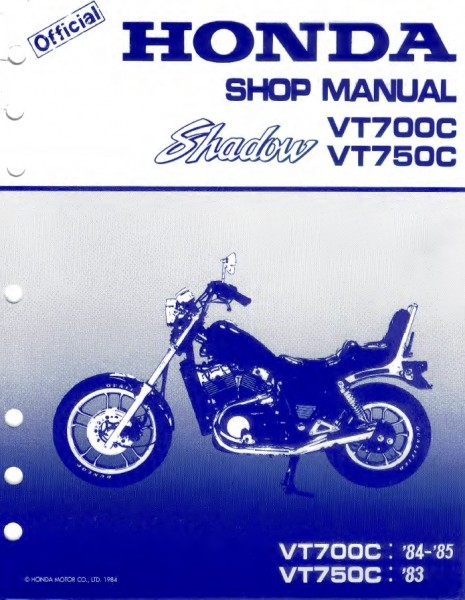 1984 1985 VT700C 1983 VT750C.600 1985 honda shadow vt700c service manual complete service manuals 1985 vt700c wiring diagram at eliteediting.co