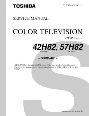 42h82 service manual complete service manuals rh completeservicemanuals com Toshiba W603 Service Manuals Model Toshiba LCD Manual