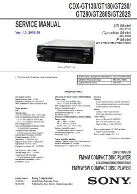 cdx gt130 service manual complete service manuals rh completeservicemanuals com Sony Cdx Gt20w Sony Cdx Gt56uiw Wiring-Diagram