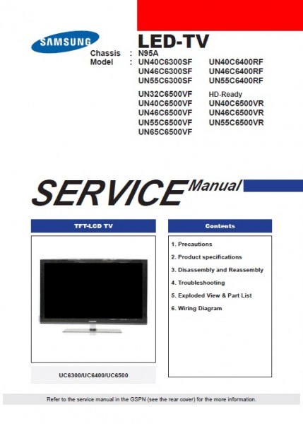 un55c6300sf service manual complete service manuals rh completeservicemanuals com User Manual PDF User Manual PDF