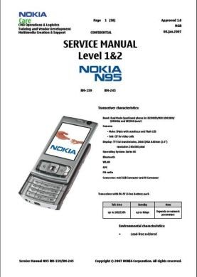 n95 service manual complete service manuals rh completeservicemanuals com nokia n95 8gb user manual nokia n95 service manual