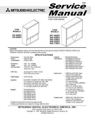 ws 55805 service manual complete service manuals rh completeservicemanuals com Mitsubishi Projector Parts Mitsubishi Projector Parts