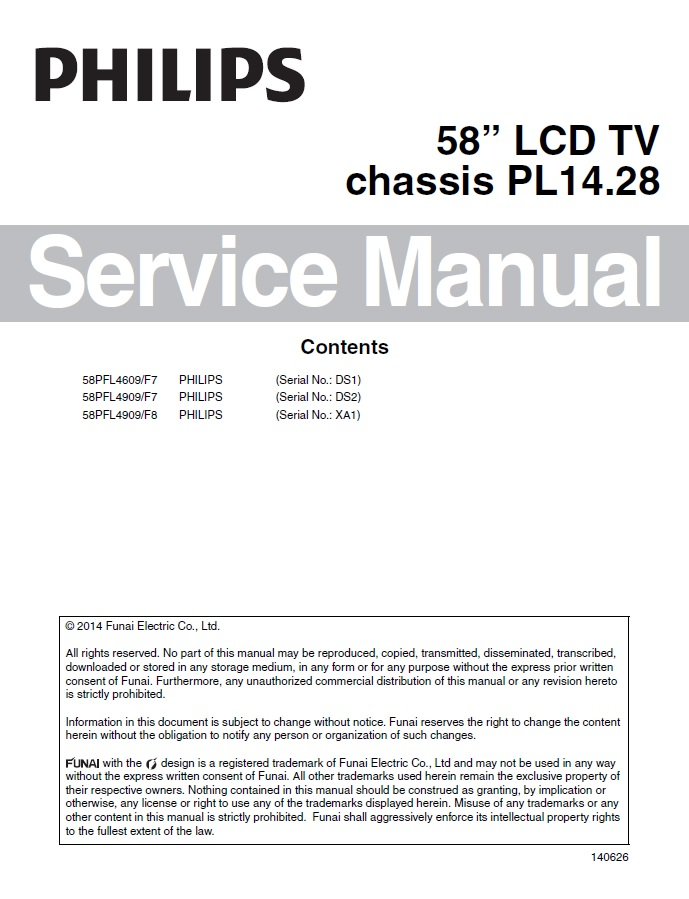 58pfl4909 f7 service manual complete service manuals rh completeservicemanuals com funai service manuals for sc724df tv combo funai lh7 m32bb service manual