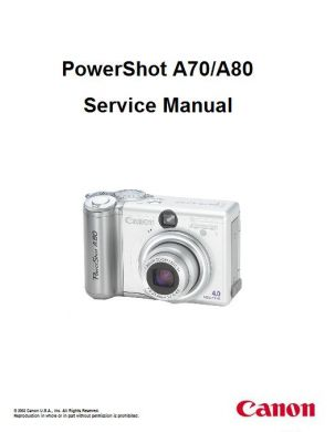 powershot a80 service manual complete service manuals rh completeservicemanuals com canon powershot a80 instruction manual PowerShot A70