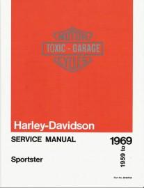 1959 to 1969 Harley Davidson Sportster 900 (XL, XLH, XLCH) Service Manual