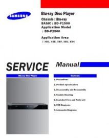 BD-P2500 Service Manual