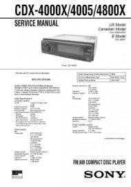 CDX-4000X Service Manual