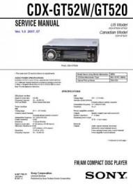 CDX-GT52W Service Manual