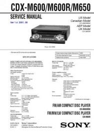 CDX-M650 Service Manual