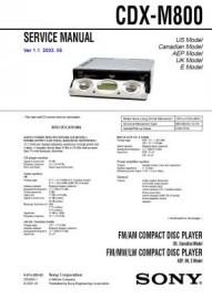 CDX-M800 Service Manual