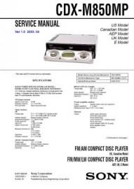 CDX-M850MP Service Manual