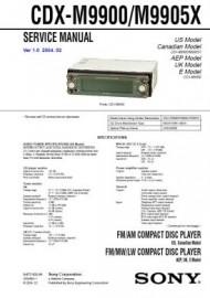 CDX-M9900 Service Manual