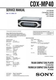 CDX-MP40 Service Manual