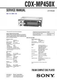 CDX-MP450X Service Manual