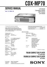 CDX-MP70 Service Manual