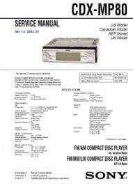 CDX-MP80 Service Manual