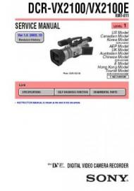 DCR-VX2100E Service Manual