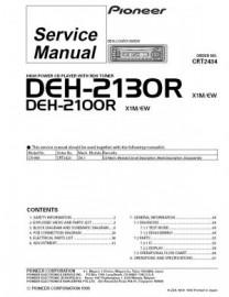 DEH-2130R Service Manual