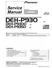 DEH-P9300 Service Manual