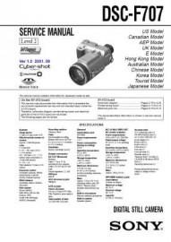 Cybershot DSC-F707 Service Manual