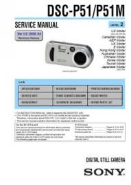 Cybershot DSC-P51M Service Manual