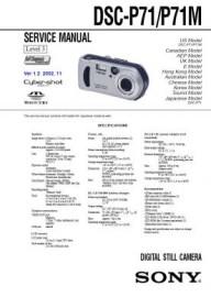 Cybershot DSC-P71M Service Manual