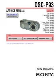 CyberShot DSC-P93 Service Manual