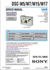 Cybershot DSC-W15 Service Manual