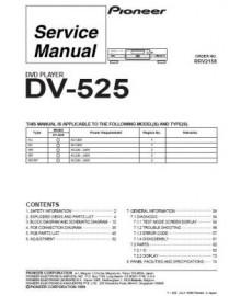 DV-525 Service Manual