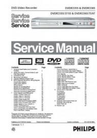 DVDR3365 Service Manual