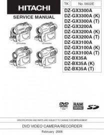 DZ-GX3300A Service Manual