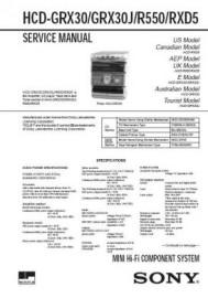HCD-GRX30J Service Manual