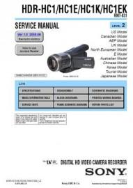 HDR-HC1EK Service Manual