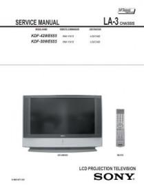 KDF-50WE655 Service Manual