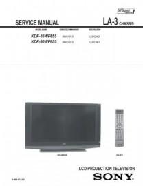 KDF-55WF655 Service Manual