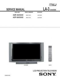 KDF-55XS955 Service Manual