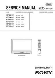 KDF-E42A10 Service Manual