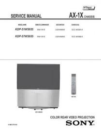 KDP-57WS655 Service Manual