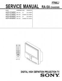 KDP-65XBR2 Service Manual