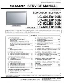 LC-40LE810UN Service Manual