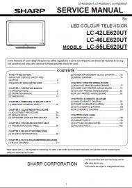 LC-55LE620UT Service Manual