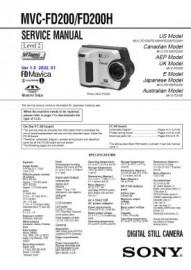 MVC-FD200H Service Manual
