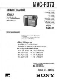 MVC-FD73 Service Manual