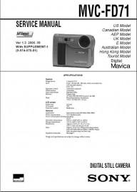 MVC-FD71 Service Manual
