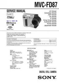 MVC-FD87 Service Manual
