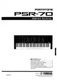 PSR-70 Service Manual