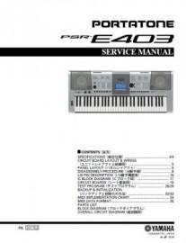 PSR-E403 Service Manual