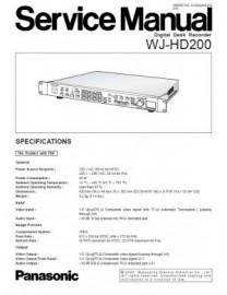 WJ-HD200 Service Manual