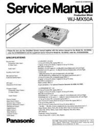 WJ-MX50A Service Manual