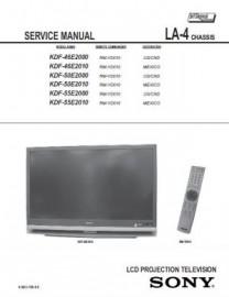 KDF-50E2010 Service Manual